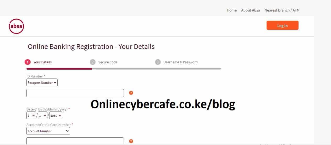 how to register for absa bank internet banking in kenya