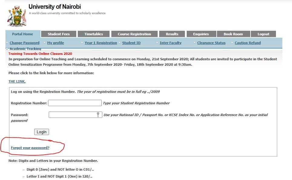 university of Nairobi student Email
